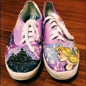 Custom Painted Disney Rapunzel Keds